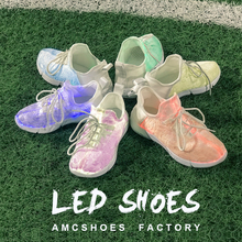 Color Changing Light Up USB LED Girl Running Shoes And Sneaker Baby Boy Sport Shoes