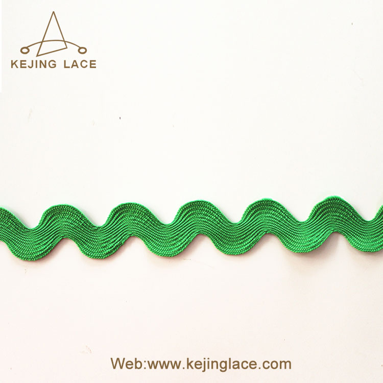 Factory 100% Polyester Ric Rac ribbon Zig Zag ribbon