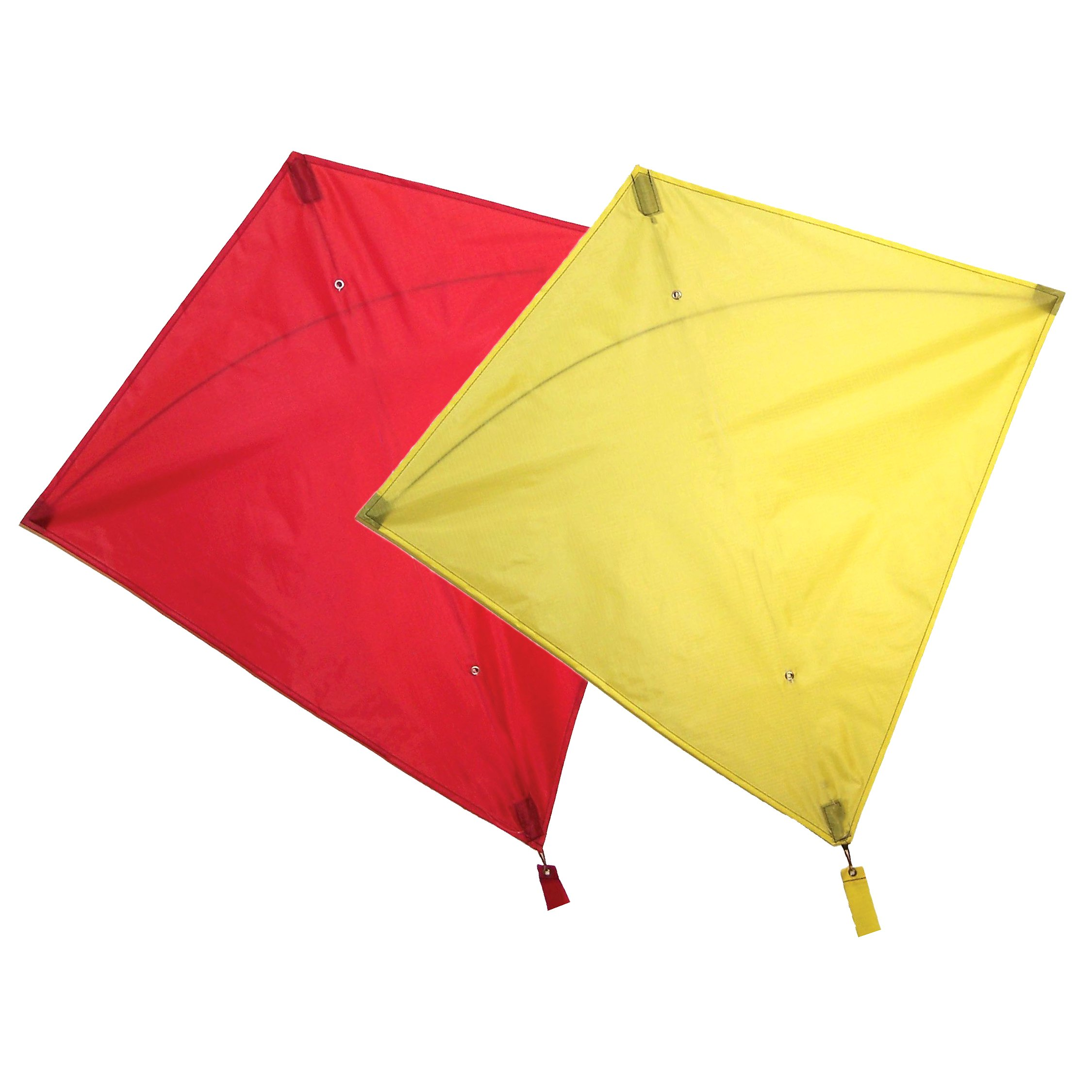 Maven Gifts: In The Breeze 2-Pack Kite Bundle – 30-Inch Red Colorfly Diamond Kite with 30-Inch Yellow Colorfly Diamond Kite – Great for Beginners and Kids