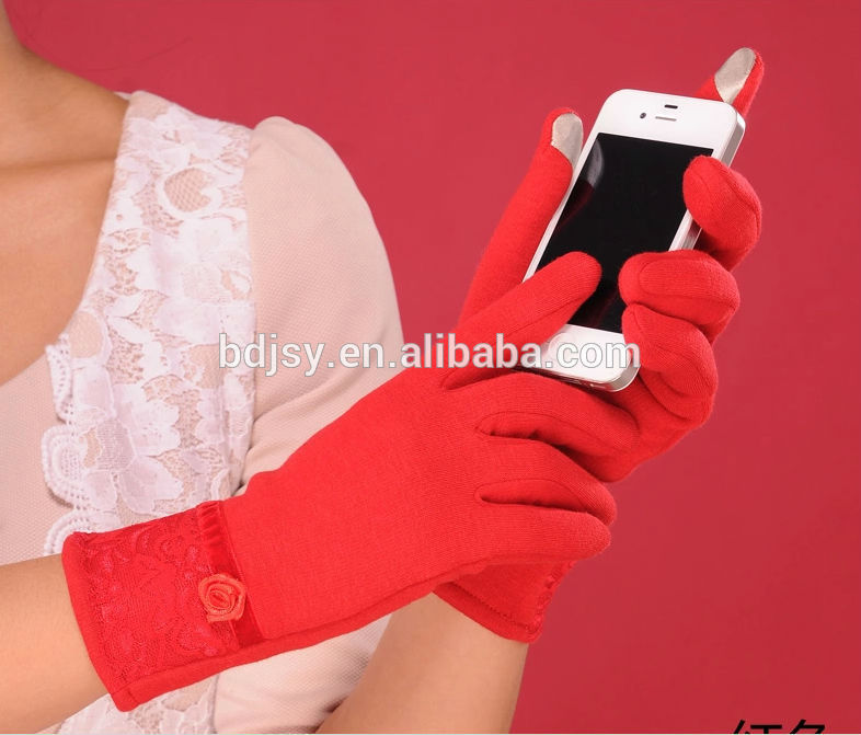 Iphone capacitive touch gloves in winter to keep warm polar fleece gloves