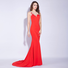 High Quality Sexy Evening Dress 2018 Red Mermaid Long Dresses Bare Back