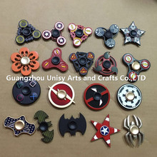 Popular cheap Zinc Alloy Marvel printing fidget spinner toy Relieve anxiety and pressure hand spinner