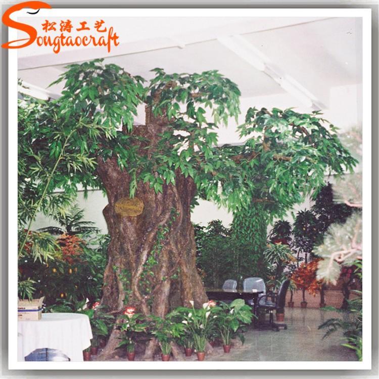 Piante ornamentali tropicali falso artificiale di plastica grande banyan tree decorativa in - Piante tropicali da esterno ...