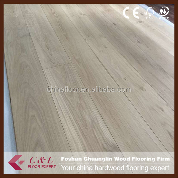 Wide plank Grey color Brushed oak engineered wooden flooring
