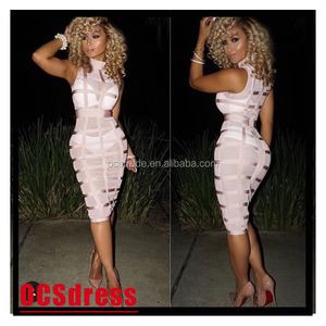 Cheap Fashion Full Sleeve Ladies Bodycon Party Dress Stock