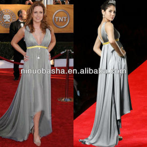 2013 NEW fashion Sexy Deep sweetheart pleats Grey Elegant Evening dresses