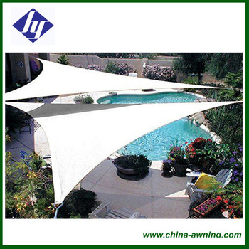 Uv Waterproof Sun Sail Awnings Net Outdoor Courtyard Swimming Pool Gazebo  Canopy Shading Hot - Buy Sun Sail Awnings,Shade Sail Awnings,Sun Shade Sail  ...