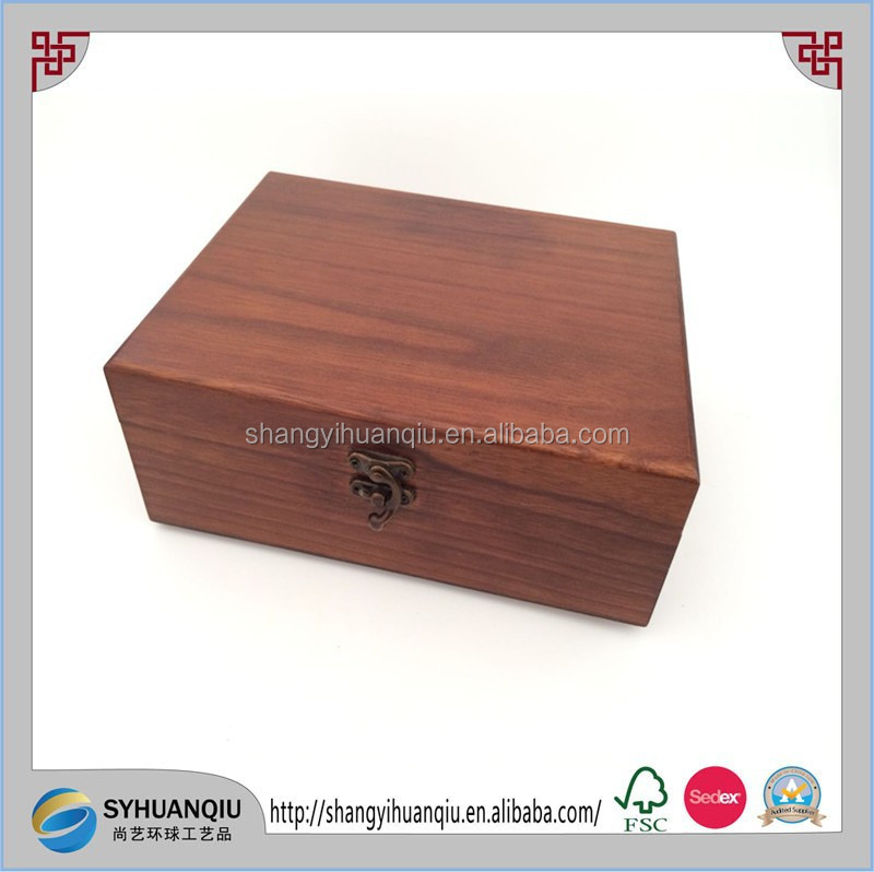 rose wood and painted wooden cigar humidor box for sale