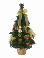Yellow Mini Artificial PVC tree for Harvest Decoration