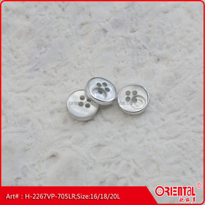 high end resin vacuum plating men shirt button
