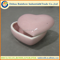 Beautiful porcelain heart shape jewelry ring box