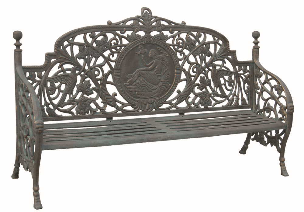 Garden treasures cast iron antique garden furniture view Cast iron garden furniture