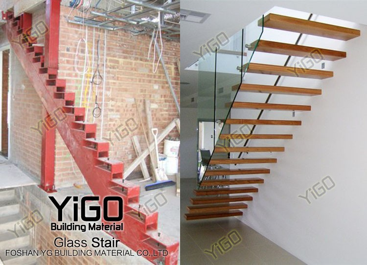 Floating Stair Kits Steel Wood Straight Floating Stairs Buy Floating Stair