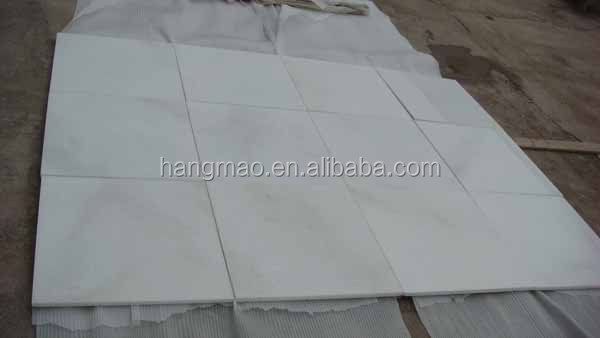 24x24 polished crystal white Chinese marble tiles