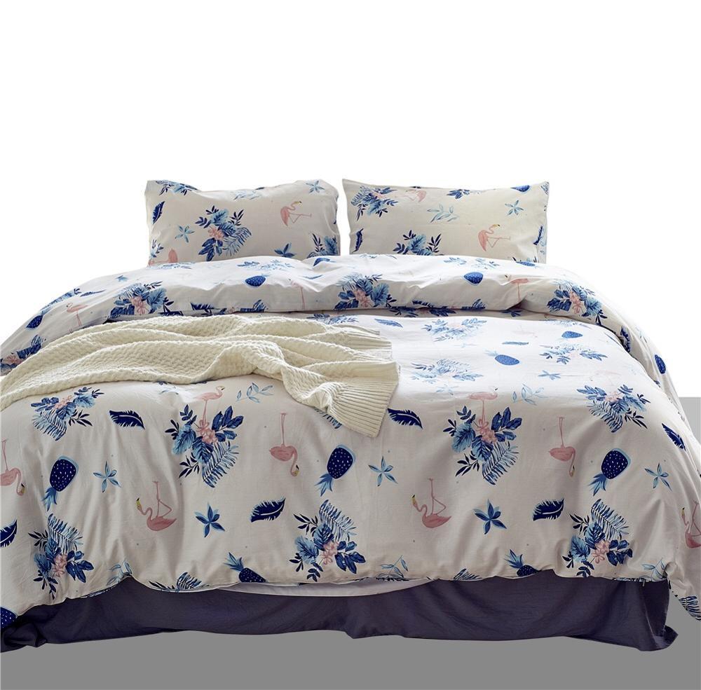 Домашний текстиль постельное белье из микрофибры Новый спальный комплект постельного белья 100% хлопок постельное белье