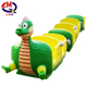 Children playground kids track train dinosaur train set electric ride on train with tracks