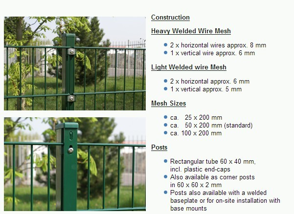 Metal Double Wire Fence Ornamental Double Loop Wire Fence/nylofor 2d ...