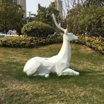 Garden Decoration Elk Statue Fibergl Large Outdoor Sculptures