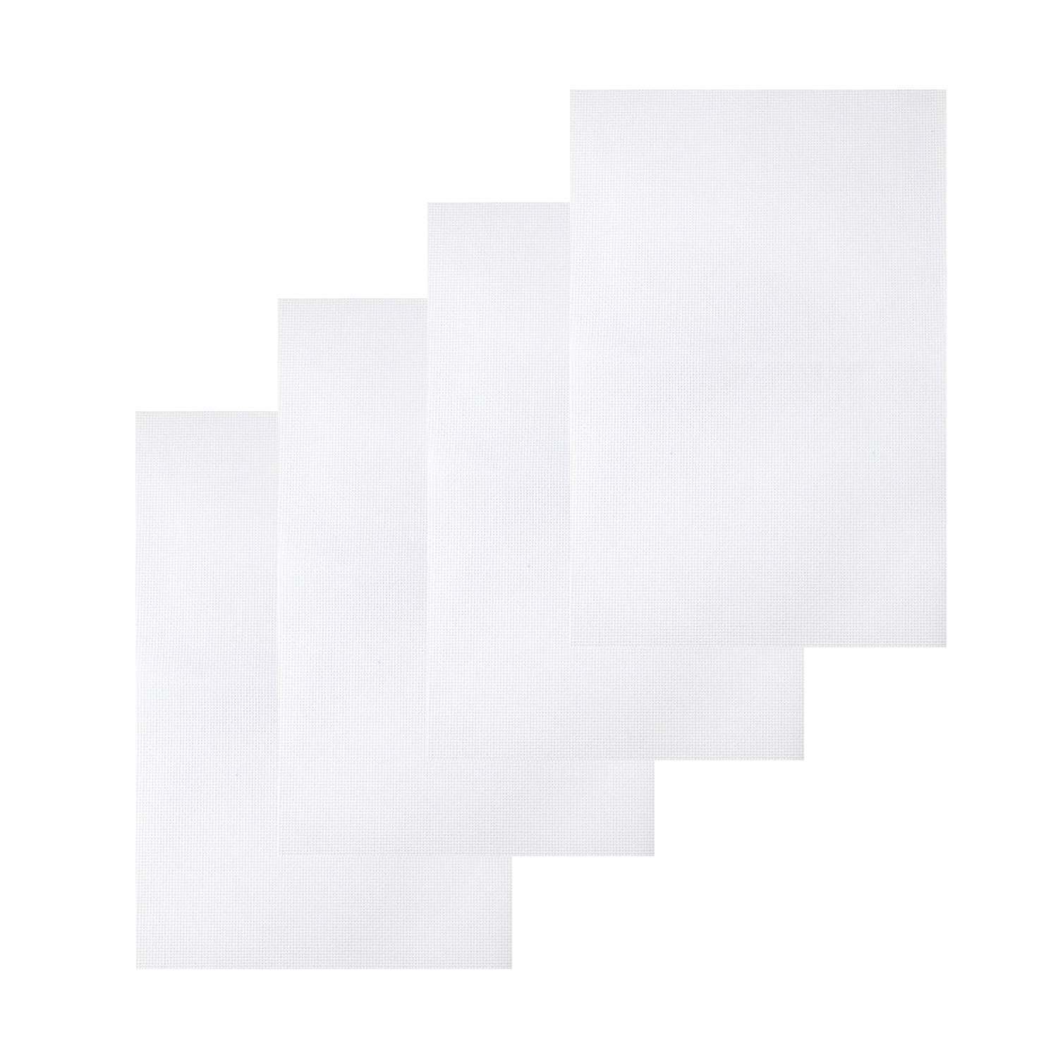 Onepine 4 Pieces 12 by 18 Embroidery cloth Classic Reserve Aida Cloth Cross Stitch Cloth White