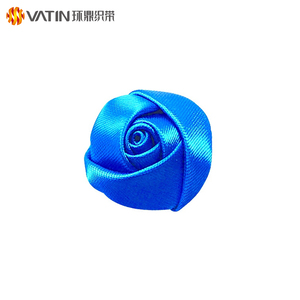 Wholesale Custom Colorful High Quality Cheap Wedding Handmade Decoration Satin Ribbon Flowers