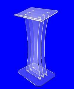 FixtureDisplays Clear Acrylic Lucite Podium Pulpit Lectern 1803-3