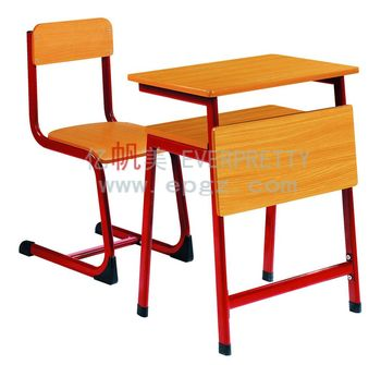 Double School Desk Chair Wooden Student With Bench ChairDouble