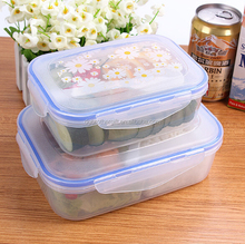 Transparent 3 Removable Compartments pp lunch box