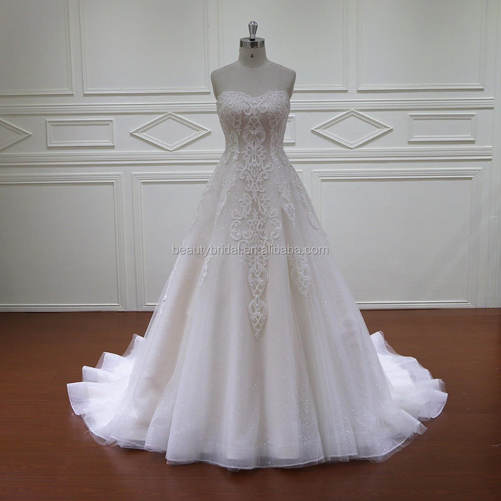 HD024 wholesale new hand work design wedding dress made in usa
