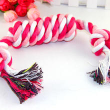 Braided rope knot toy durable chew candy dog toys