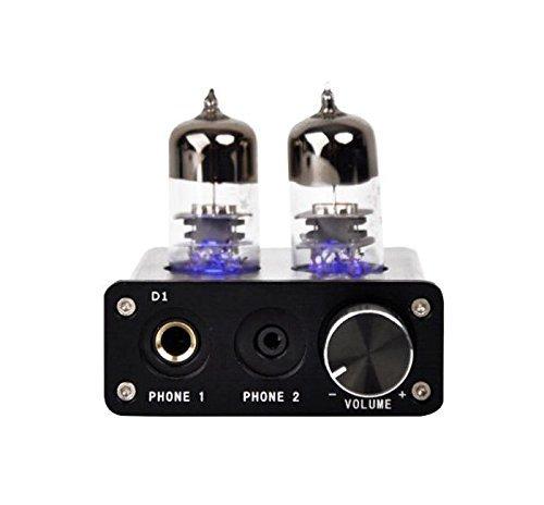[UPDATED] Vacuum Tube Headphone Amplifier Preamplifier USB Sound Card PCM2704 DAC Integrated Mini Audio Hi-Fi Stereo Preamp - Black