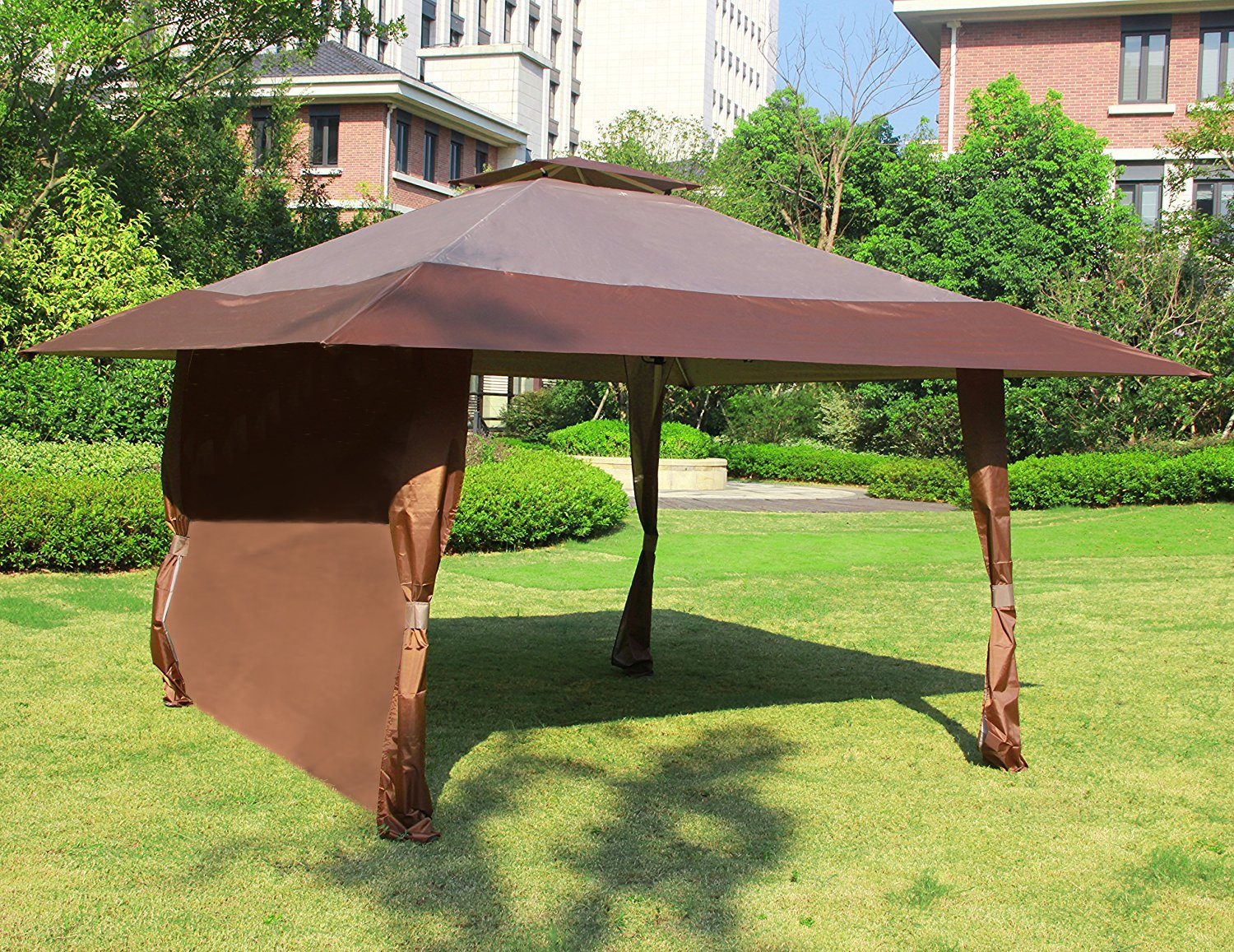Get Quotations Cloud Mountain 1 Pc Wall Side Gazebo Canopy Wind And Sun Shade Privacy Panel Curtain Replacement