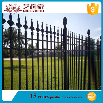 Wrought Iron Fence Spear Top Boundary Wall Grill Design