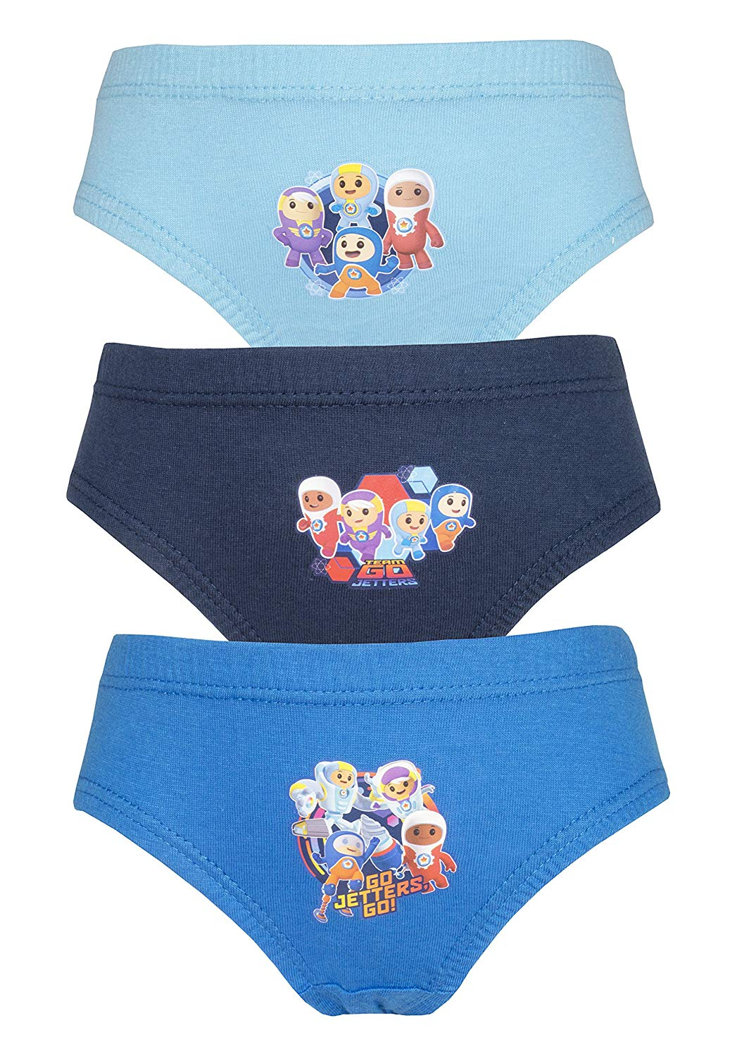 Cartoon Character Products CBeebies 3 Pack Boys Go Jetters Pants/Briefs Various Designs 18 Months - 5 yer