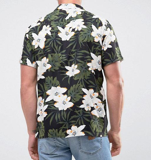 5fa222c5c Mens tropical print haiwaiian customized wholesale cheap button up summer  shirts