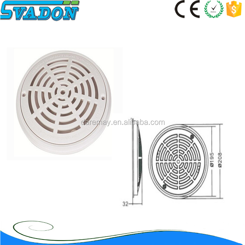 Guangzhou Factory supply swimming pool <strong>ABS</strong>/PVC main drain cover/main drainage