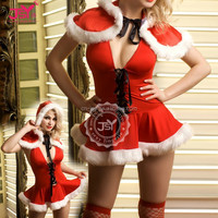 New Style Santa Claus Girl Dress,Adult Shop Kiss Santa Costume Lingerie,red Thermal Underwear