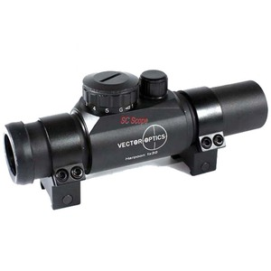 Vector Optics Harpoon 1x 30mm High Quality Green and Red Dot Scope for M4 with Sunshade and Mount for AR15 5.56