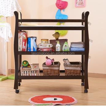 Nogal Pañal Cambiador Bebé Dresser Mesa Para Cambiar Pañales - Buy ...