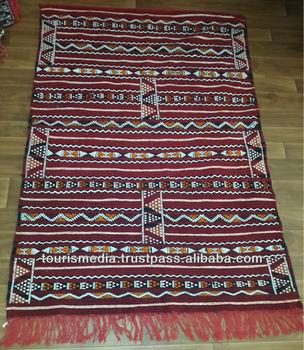 Moroccan Berber Hand Woven Kilim Rug 186cmX126cm Wholesaler Of Kilim Berber  Carpet