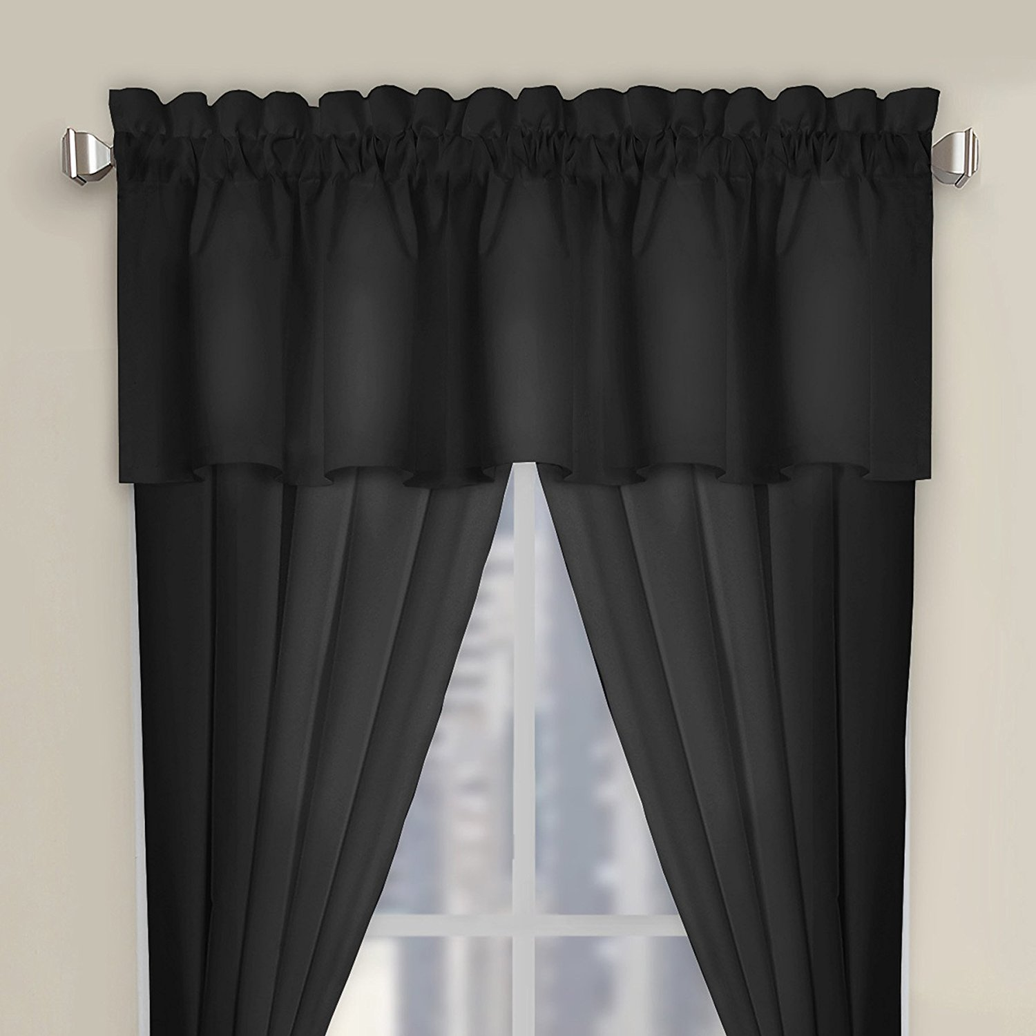Get Quotations · Luxury Microfiber Tailored Valance   Window Valance    Perfect Curtain Valances For Bedroom, Kitchen Or