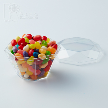 Kwang Hsieh Clear Diamond Shaped Plastic Candy Chocolate Storage
