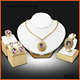 Amethyst Pendant Set 4 PCS - Luxurious Necklace Sets - Indian Jewelry Accessories