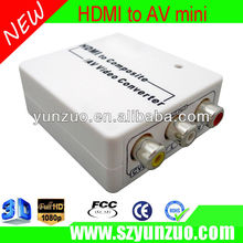HDMI input and AV out video Converter micro usb power supply