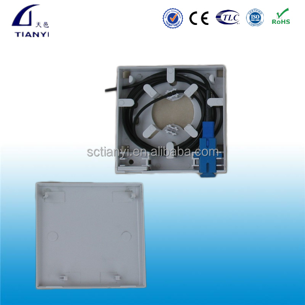 Ftth Box 1 Port/2 Ports Socket Panel Mini FTTH Customer Terminal Box