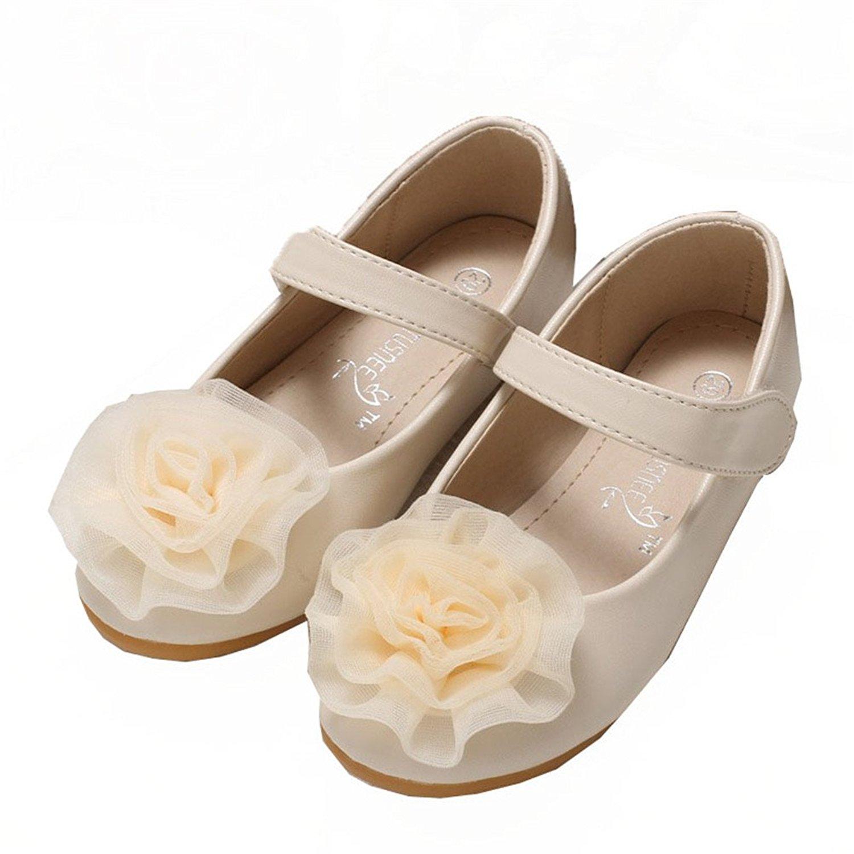 dc6dac7a9132 Get Quotations · Always Pretty Little Girls Cute Ballet Ballerina Flats Princess  Shoes with Flower