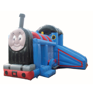 New product thomas the train inflatable bouncer trampoline bounce house