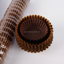 Mini Brown Cupcake Cake Liners Wrapper Coffee 40gsm Greaseproof Paper Baking Cups for Chocolate