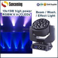 RGBW 19x15W Bee Eye Zoom Wholesale Led Wash Light Wireless Controlled