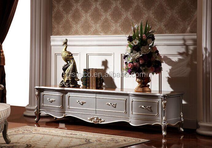 European Style Living Room Furniture Tv Cabinet Elegant