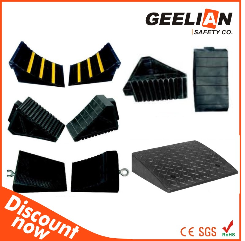 Wholesale customized high quality and factory price truck/ car/ motorcycle adjustable plastic wheel chocks